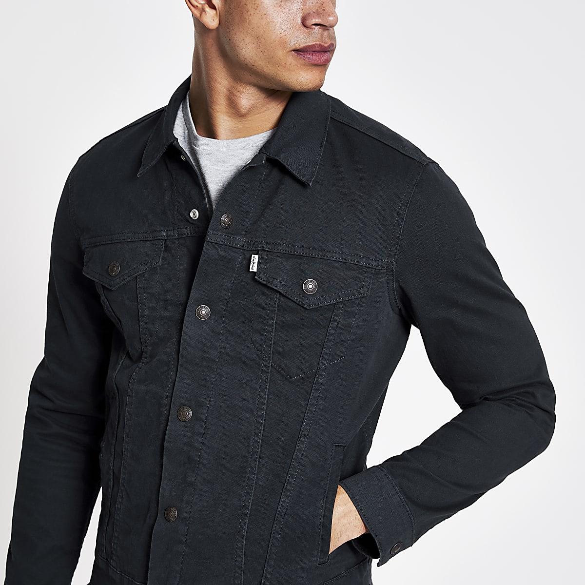 Levi's dark blue trucker jacket