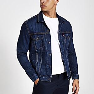 Levi's – Blaue Denim-Trucker-Jacke