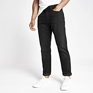 Levi's black hi-ball roll jeans