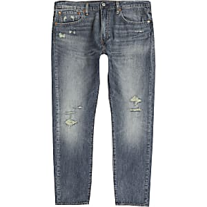 Levi's blue 512 slim tapered ripped jeans