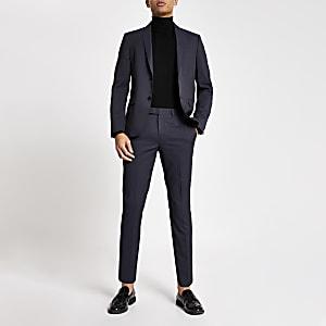 Paarse slim-fit pantalon