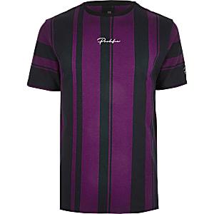 Big and Tall – T-shirt slim slim « Prolific » bleu marine