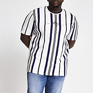"""Big & Tall – Weißes T-Shirt """"Maison Riviera"""""""