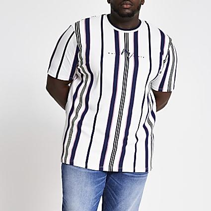Big and Tall white Maison Riviera T-shirt