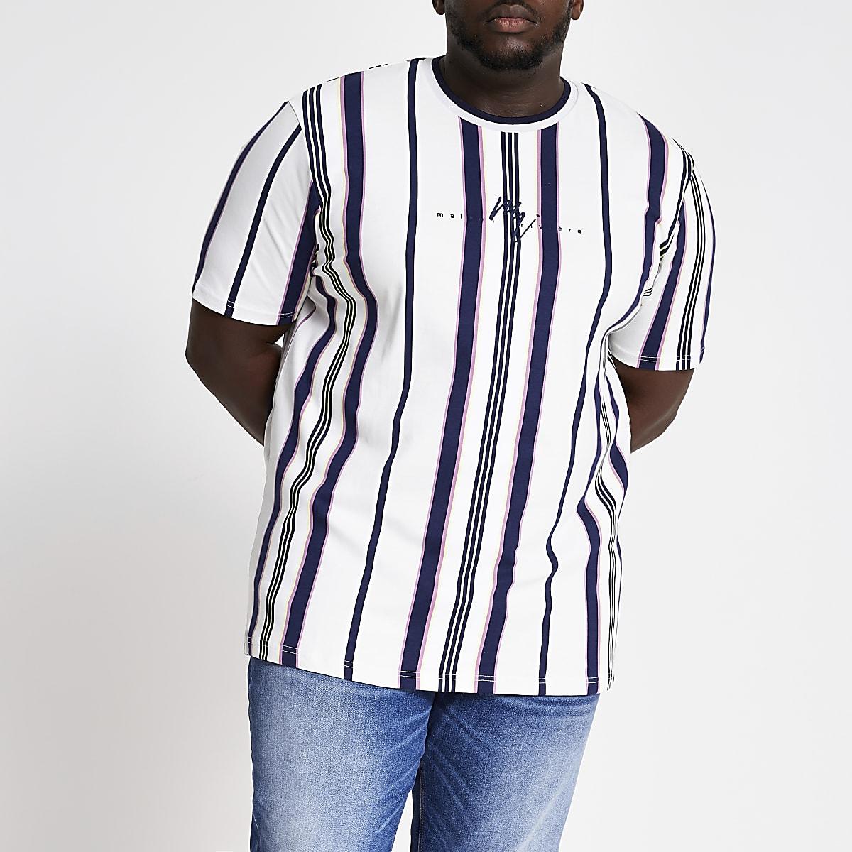 Big and Tall - Maison Riviera - Wit T-shirt