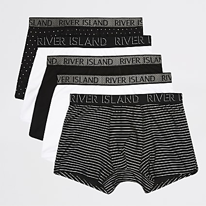 Silver foil RI waistband trunks 5 pack
