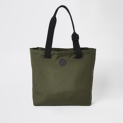 Khaki shopper bag