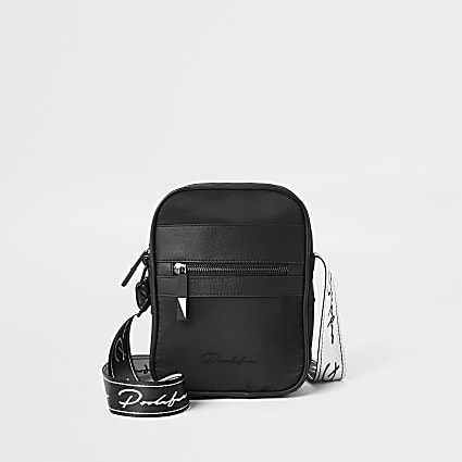 Prolific black cross body flight bag
