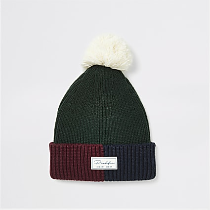 Prolific green faux fur beanie hat