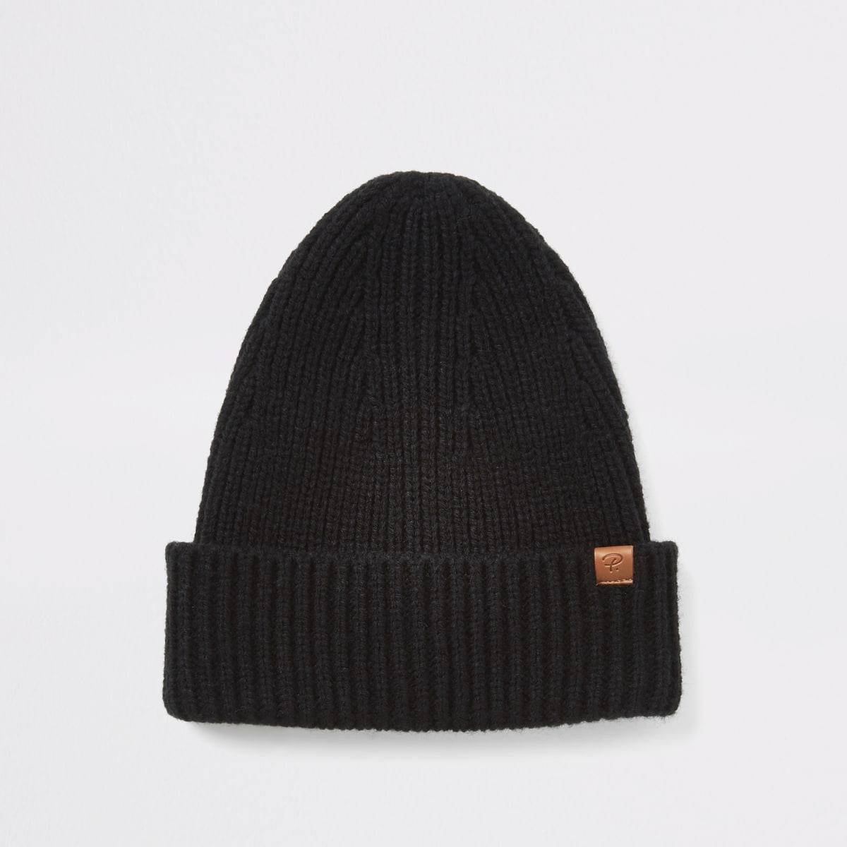 Bonnet de pêcheur en maille noir