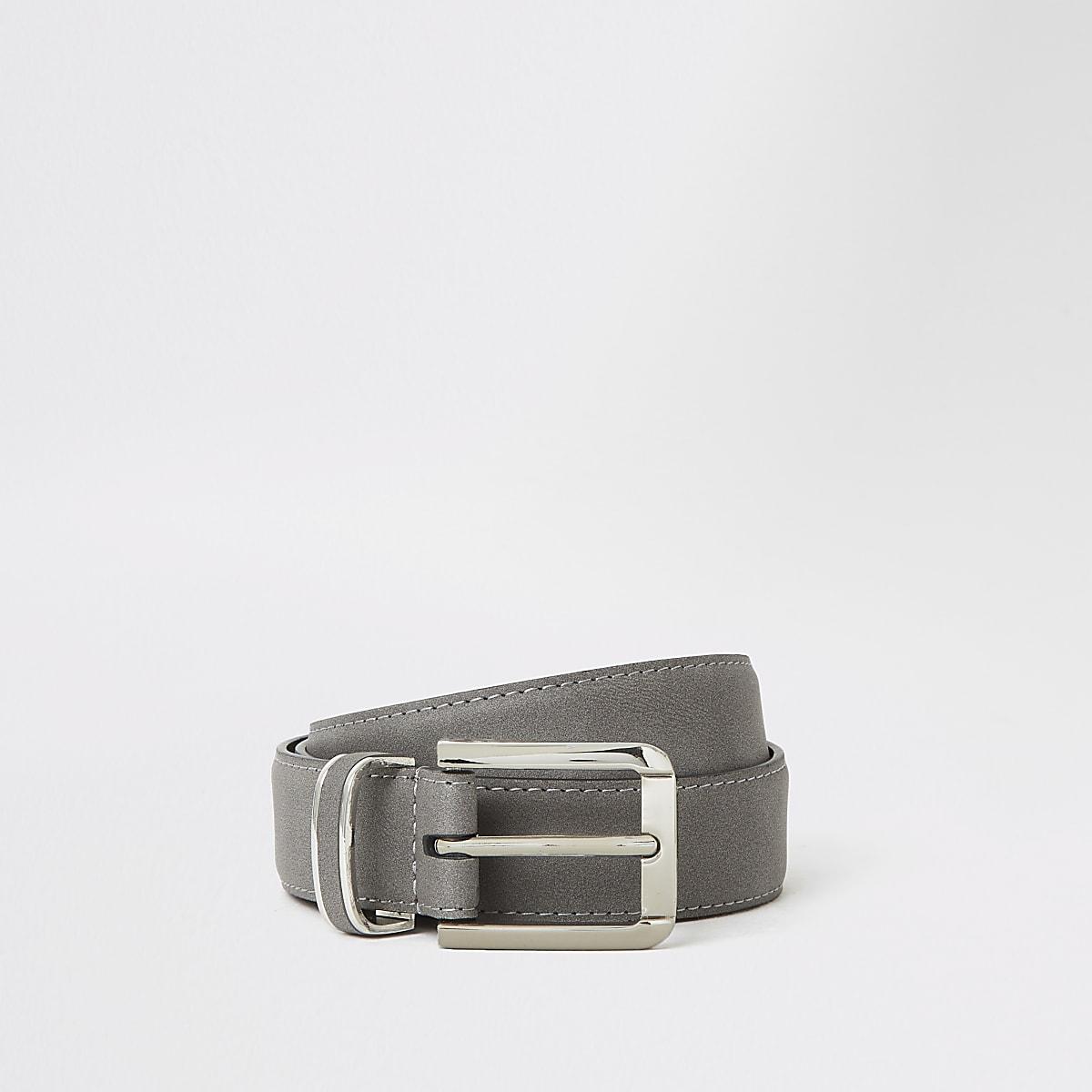 Suédine grise avec boucle