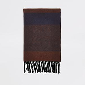Écharpe large rouge foncéà carreaux
