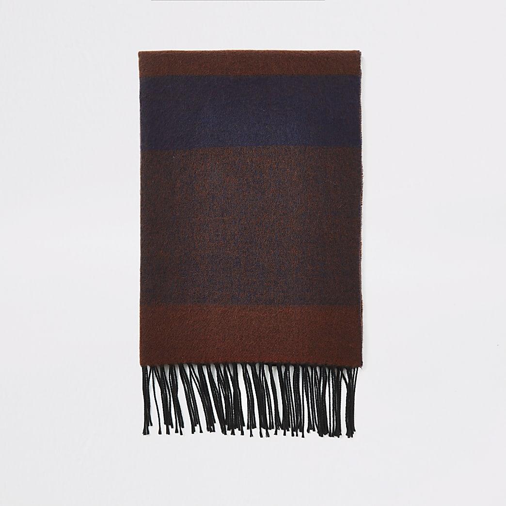 Donkerrode grote geruite sjaal