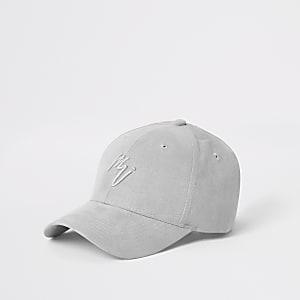 Grey faux suede 'Maison Riviera' cap
