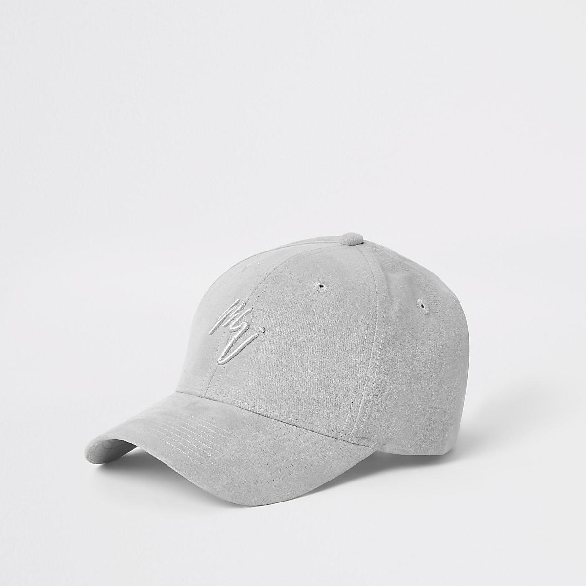 Grey faux suede Maison Riviera cap