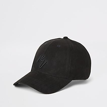 Black faux suede Maison Riviera cap