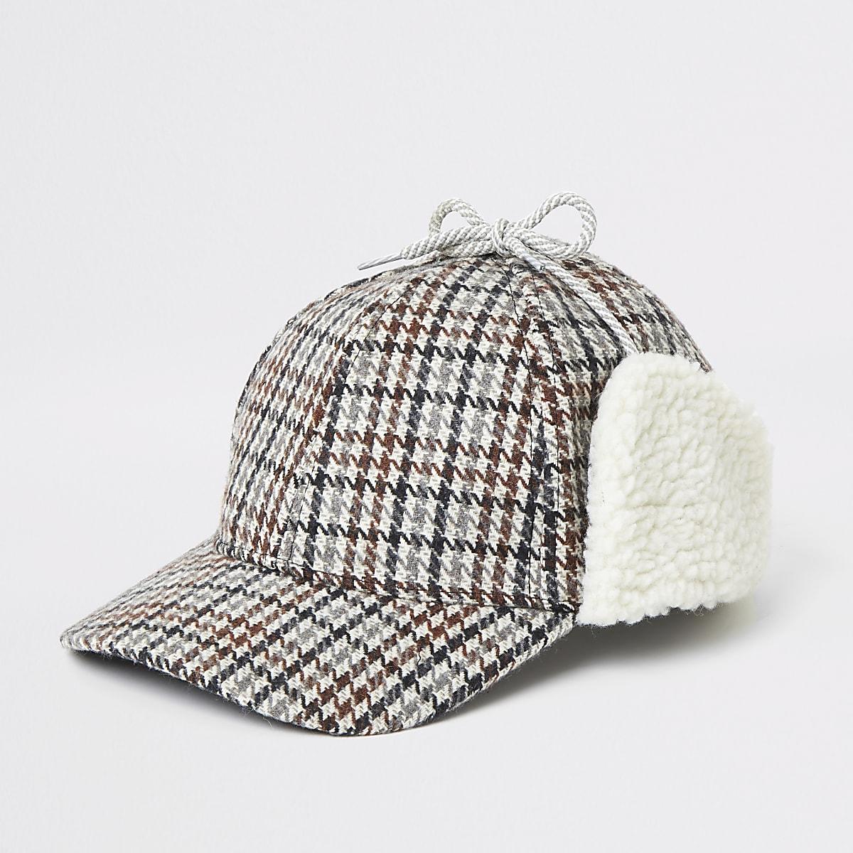 Chapeau borgmarronà carreaux