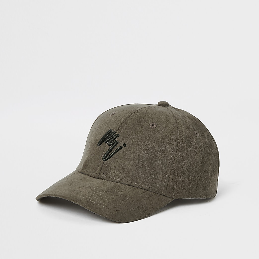 Maison Riviera dark green faux suede cap