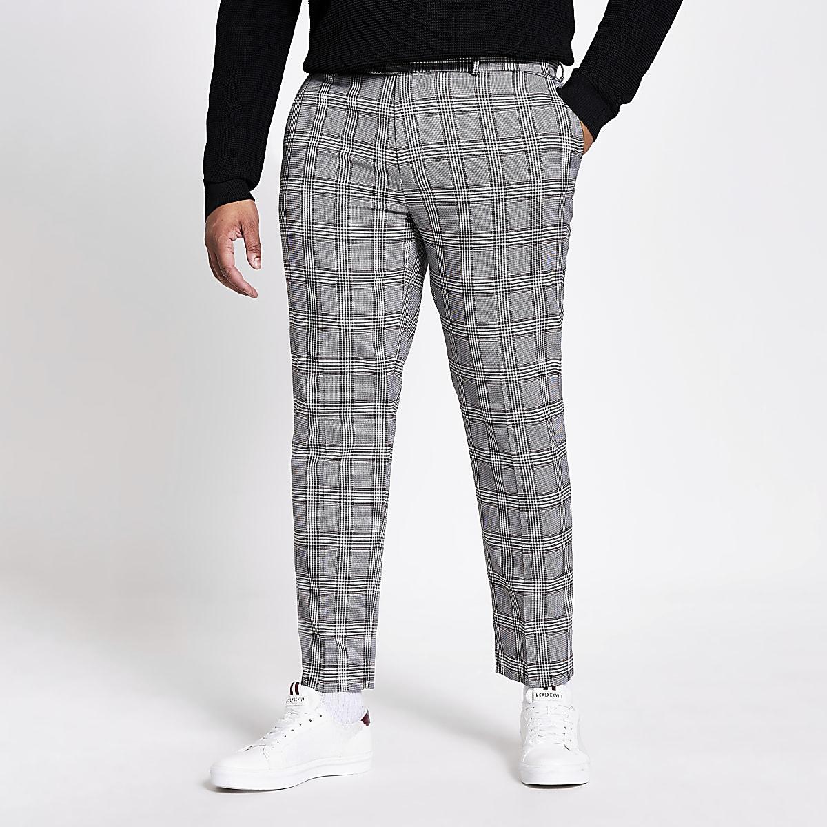 Big and Tall -Pantalons habillésà carreaux