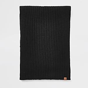 Écharpe Prolific en maille côtelée noire