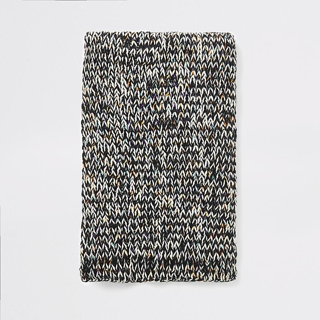Ecru twist knitted chunk scarf