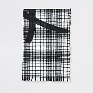 Prolific - Grijze geruite brede sjaal