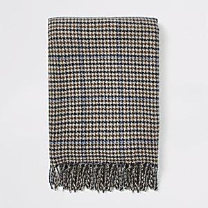 Bruine geruite sjaal