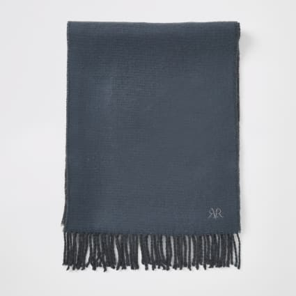 Blue RVR embroidered scarf
