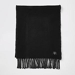 RVR - Zwarte geborduurde sjaal