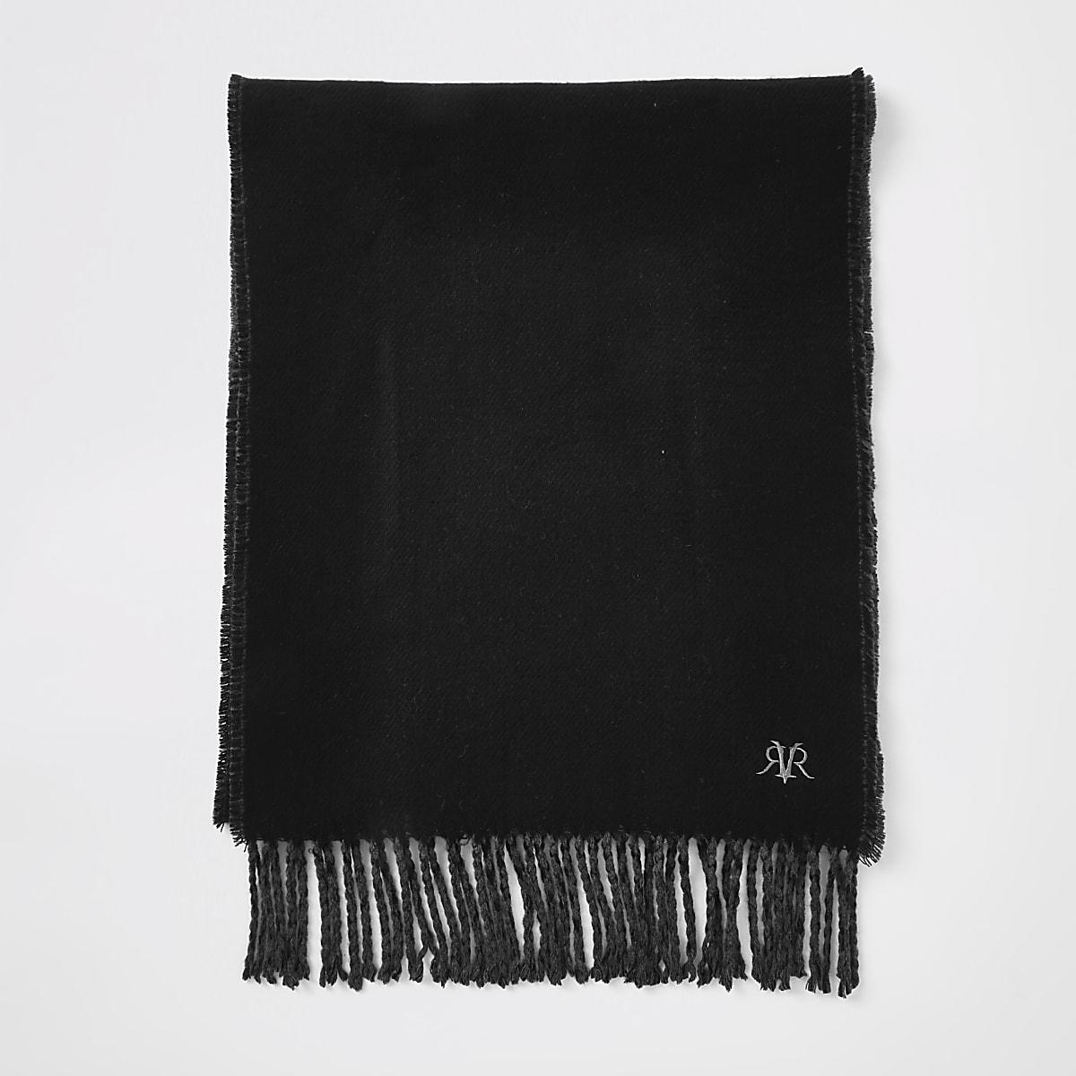 Black RVR embroidered scarf
