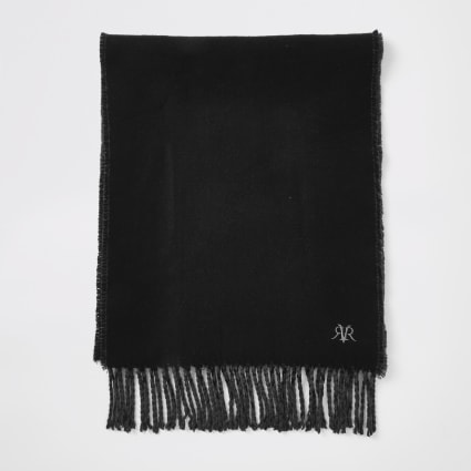 Black RVR embroidered scarf