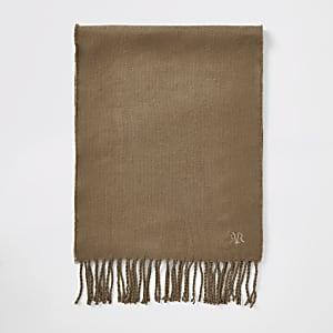 RVR - Bruine geborduurde sjaal