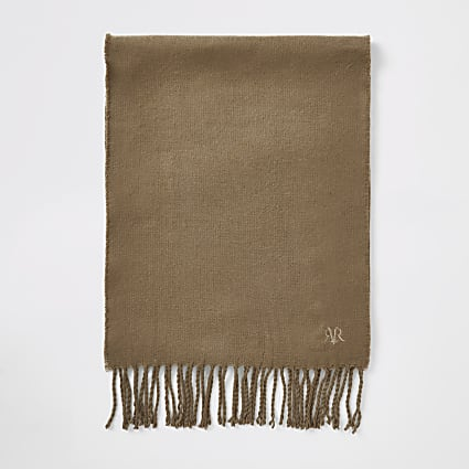 Brown RVR embroidered scarf