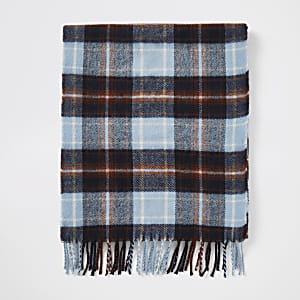 Karierter Schal in Ecru