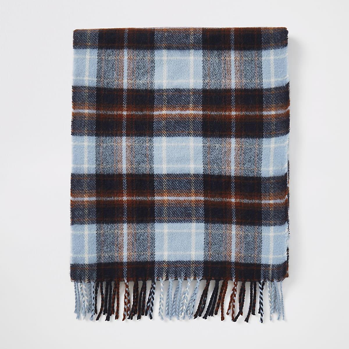 Ecru geruite sjaal