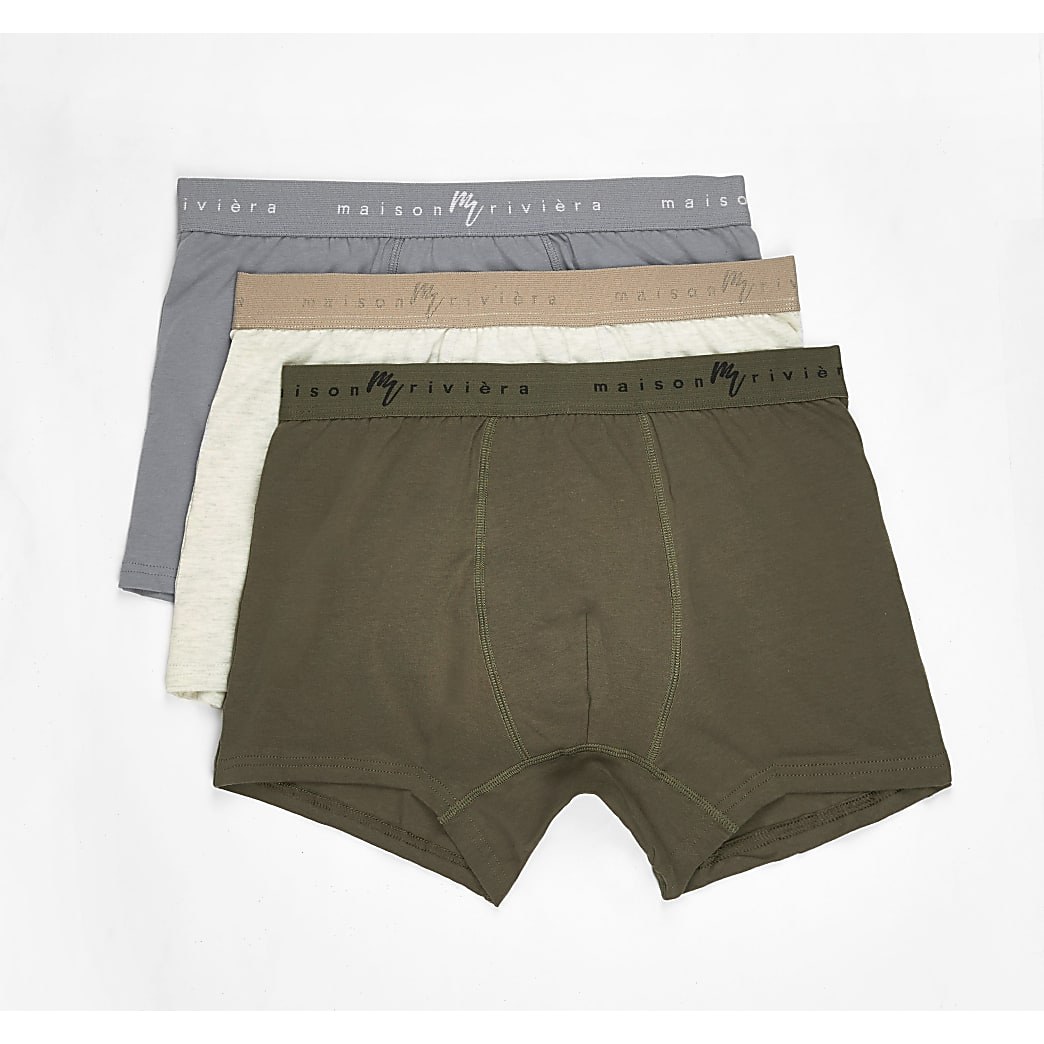 Maison Riviera green trunks 3 pack