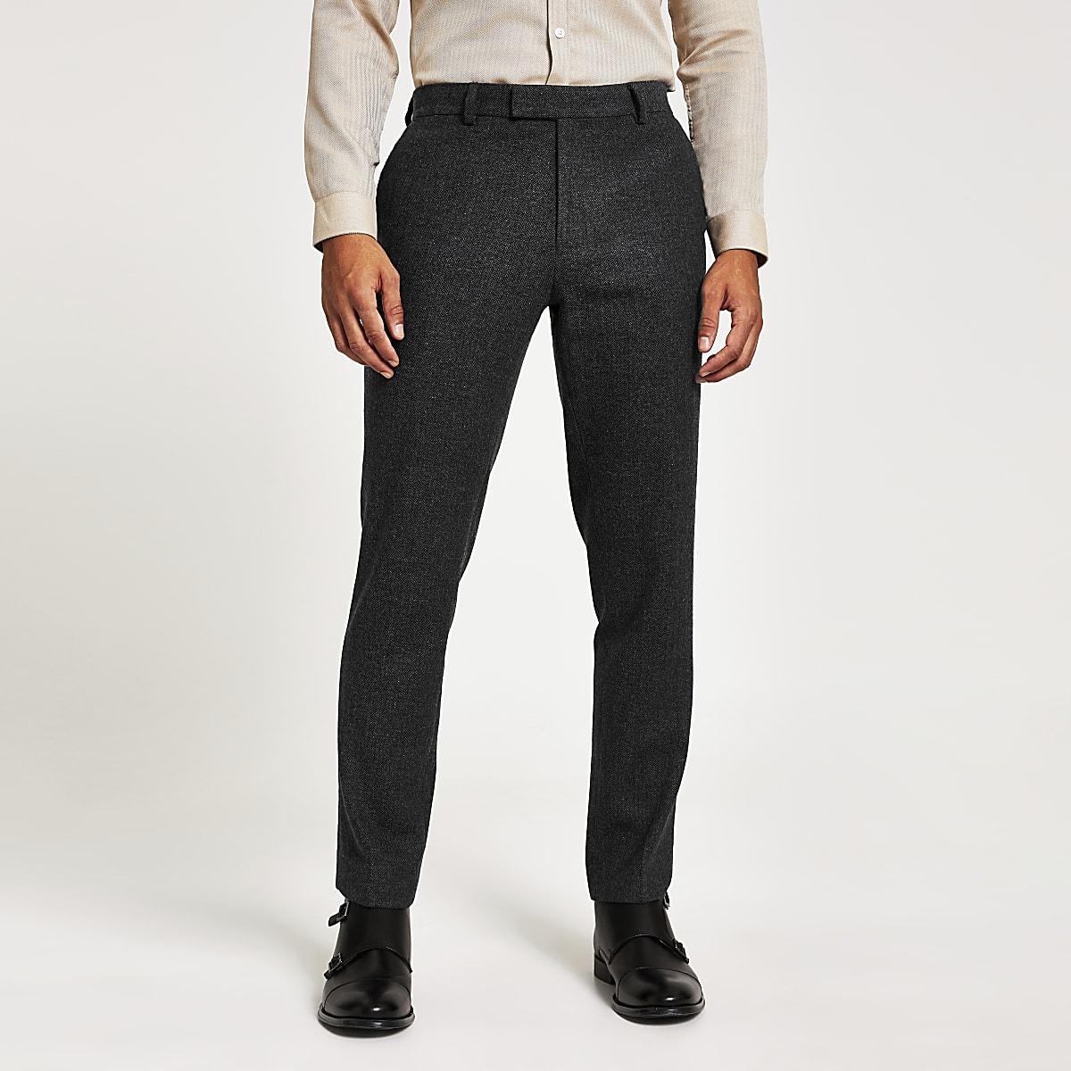 Marineblauwe skinny-fit pantalon