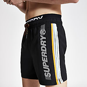 Superdry black swim shorts