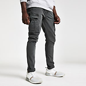 Superdry grey cargo trousers