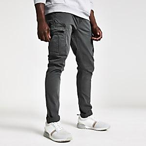 Superdry – Pantalon cargo gris