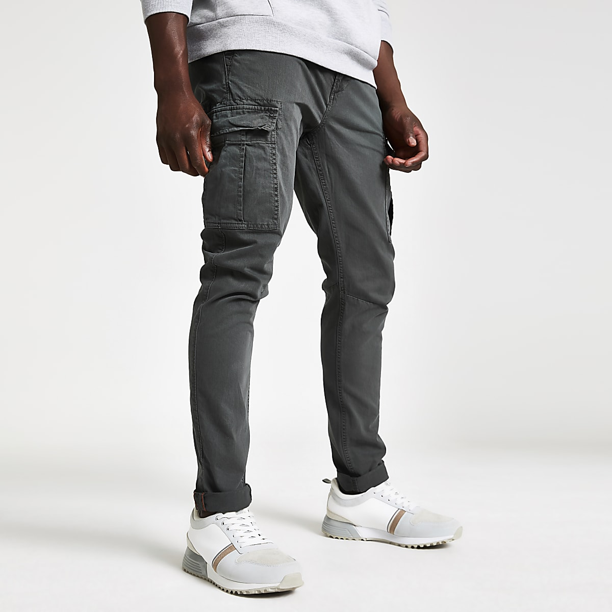 Superdry grey cargo pants