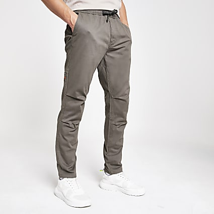 Superdry grey utility trousers