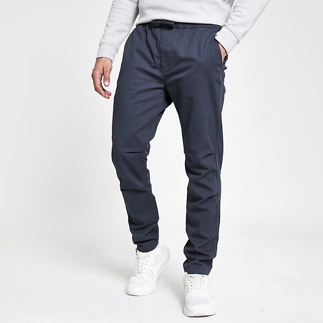 Superdry – Pantalon bleu fonctionnel