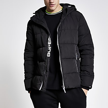 Superdry black puffer jacket
