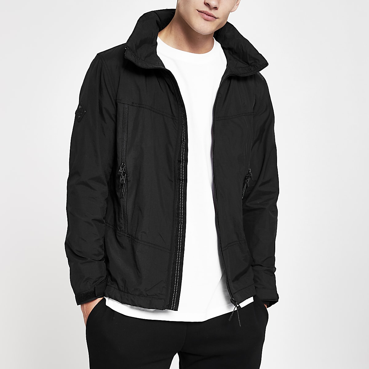 Superdry black lightweight jacket