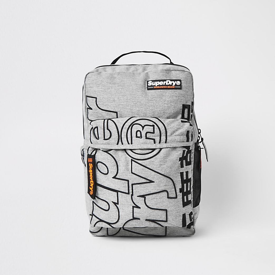 Superdry grey Academic backpack