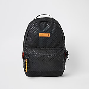 Superdry black Hollow Montana backpack