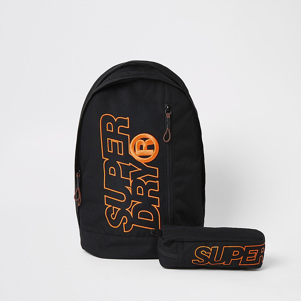 Superdry black Freshman backpack