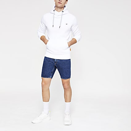 Superdry Collective white hoodie