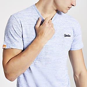 Superdry – T-shirt vintage bleu